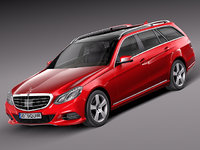 3d model of 2013 2014 mercedes luxury