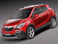 opel mokka 2013 suv 3d model