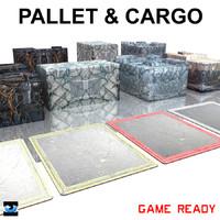 pallet cargo 3d model