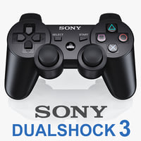 sony ps3 dualshock controller 3d 3ds