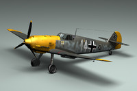 BF109E WWII German Airplane