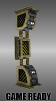 3d sci fi pillar model