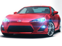 3d 3ds scion fr-s 2013 sport coupe