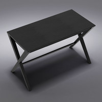 "Crate&Barrel - Spotlight Ebony 48"" Desk"