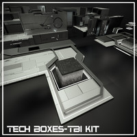 3d model tech boxes-tb1 kit