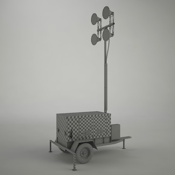 3d work light tower - Work Light Tower... by C A Design Services 3D Team UK