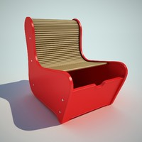 3d 3ds children chair child
