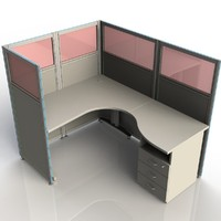 maya office computer desk furniture