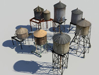 water towers obj