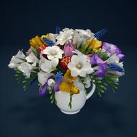 Flowers - hyacinth, freesia, tulip