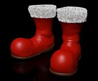 3d claus santa boot