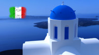 greek church santorini 3ds