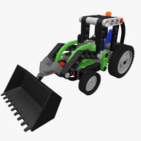 3d lego technic tractor