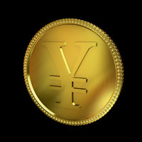 3ds max yen golden coin