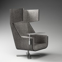 buzzispace buzzime lounge chair 3d model