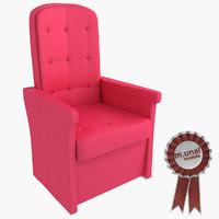 3d model upholstered bergere