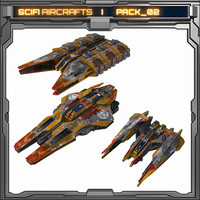 scifi aircrafts pack 02 3d model