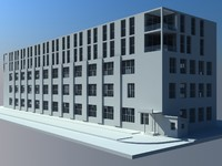 3d 5 factory office building model