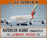 airplane airbus a380 emirates 3d model