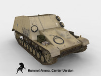 Sd Kfz 165 Hummel Carrier ammo version summer scheme