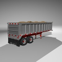 dumper trailer load 3d obj