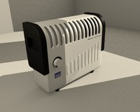 electric heater 3d model