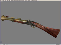 old fusil flintlock musket 3ds
