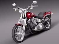 3d model harley softail springer 2012