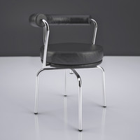 le corbusier lc7 swivel chair 3d x