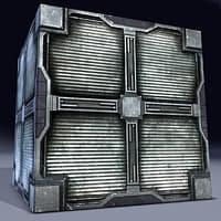 3d metal cargo box