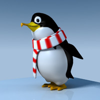 3d model penguin cartoon