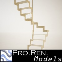 Stair for architectural interiors 004