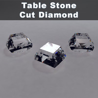 3dsmax table stone cut diamond