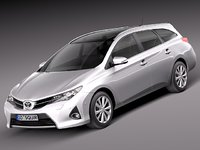 toyota auris touring sports 3d model