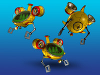 bathyscaphe comics 3d model