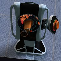 3d telecommander post commander model