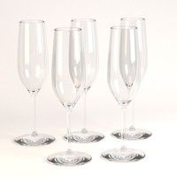 3ds champagne glass