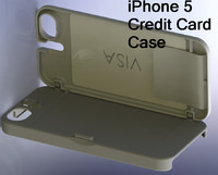 3d iphone 5 credit card