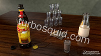 3D Kahlua Bottle with scene included for Cinema 4d 11.5 and 13