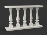 3d model balustrades room