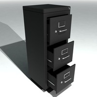 set single metal filing cabinets 3d model