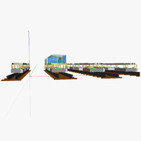 modular train ic 3d 3ds