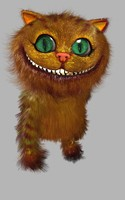3ds max character ginger cat hair