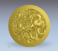 The Chinese dragon plate relief