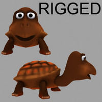 turtle character riged max