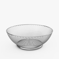 wire basket alessi 3d model