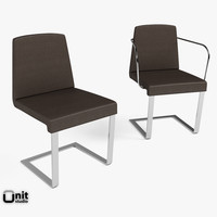 3d model armrests chair bonaldo