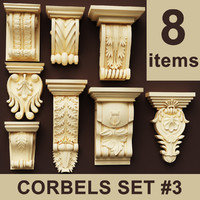 Corbels Set 3 (8 items)
