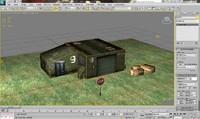 mobile building 3d max