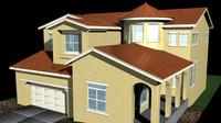 3d stucco home model